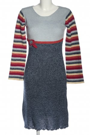 Lysgaard Sweater Dress mixed pattern casual look