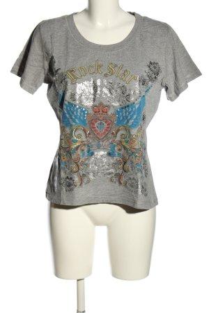 Lysgaard T-Shirt hellgrau-blau meliert Casual-Look