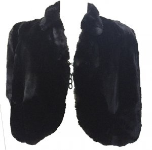 Bolero nero Pelliccia