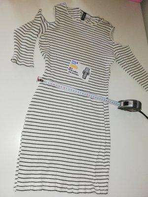 M 40 H&M Kleid schwarz weiß gestreift