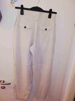 Pantalon en jersey blanc cassé-crème
