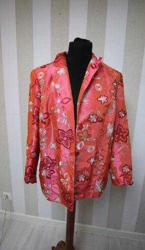 M.Asam Designer Blazer Jacke mit Schulterpolstern & Blumen Design