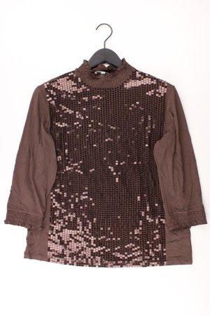M. ASAM Shirt Größe 44 braun aus Viskose