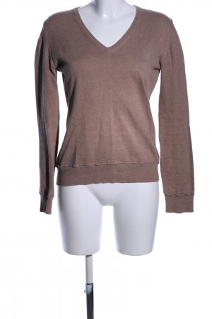 M by Madonna V-Ausschnitt-Pullover braun meliert Casual-Look