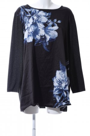 M. Collection Slip-over blouse bloemenprint casual uitstraling