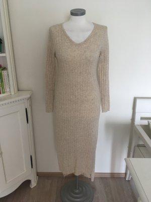 M&G Monogram Kleid Strickkleid beige creme 36 S