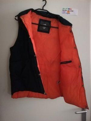 ❤️ M Gilet ärmellose Jacke H&M braun dunkelblau Orange