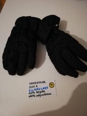 Rękawice z podszewką biały-czarny