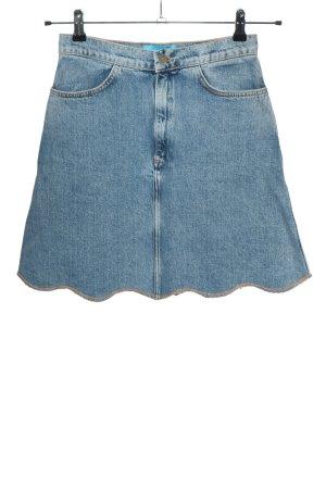 M.I.H. Jeans Jeansrock blau Casual-Look, Wellenkante, Gr. Small