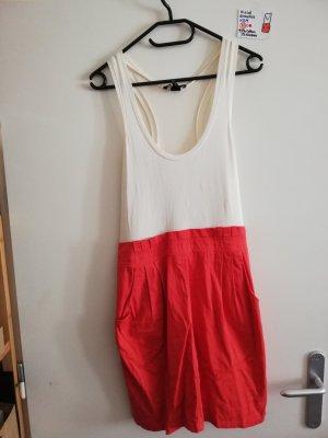 M Kleid ärmellos H&M rot weiß