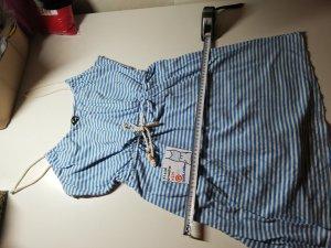 M Kleid ärmellos H&M weiß hellblau