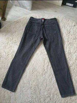 M/L Tommy Hilfiger Mom Jeans Izzy schwarz/grau W30