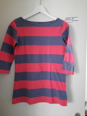 m langärmeliges shirt dunkelrosa gestreift