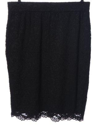 m&mode Falda de encaje negro elegante