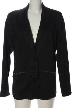 m&mode Marynarka z dzianiny czarny W stylu biznesowym