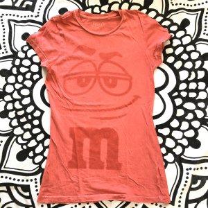 M&Ms T-Shirt Gr M pink shirt kurzarm Frontprint USA