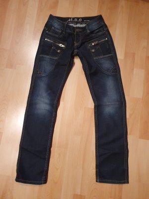 M.O.D. Jeans de moto bleu-bleu foncé