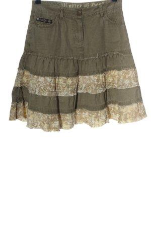 M.O.D. Rozkloszowana spódnica jasnoszary-w kolorze białej wełny