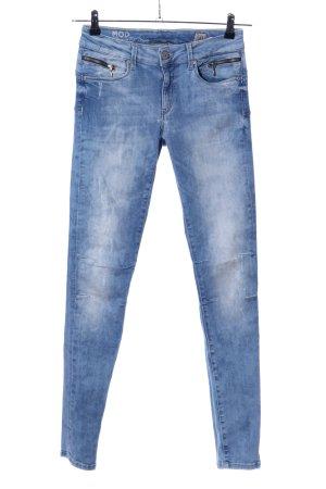 M.O.D. Röhrenhose blau Casual-Look