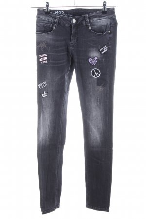 M.O.D. Skinny Jeans schwarz Casual-Look