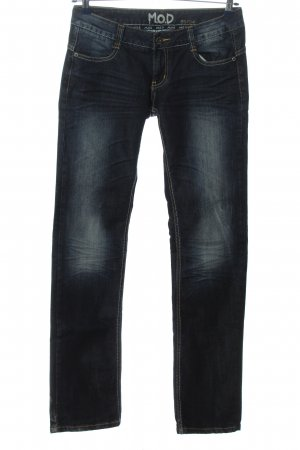 M.O.D. Jeansy z prostymi nogawkami niebieski W stylu casual