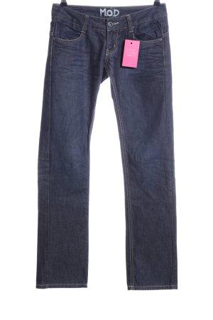 M.O.D. Straight-Leg Jeans blau Business-Look