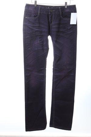 M.O.D. Straight-Leg Jeans dunkelblau-rosa Casual-Look