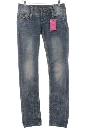 M.O.D. Jeansy z prostymi nogawkami chabrowy W stylu casual