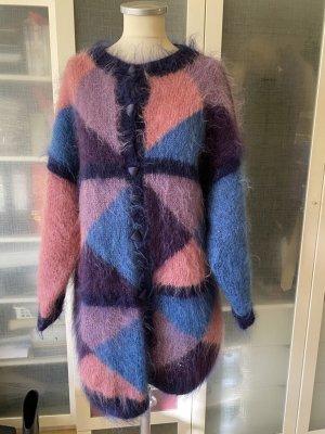 Vintage Love Płaszcz z dzianiny Wielokolorowy Moher