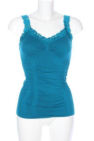 M. Rena Basic Top blau Casual-Look