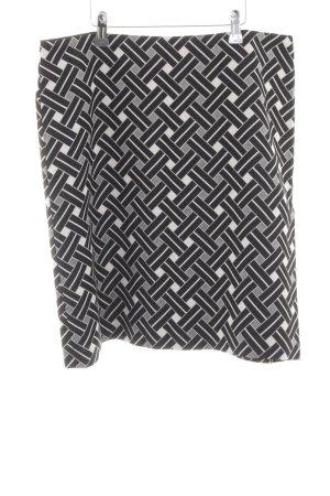 M&S Bleistiftrock schwarz-weiß Allover-Druck Casual-Look