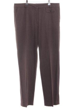 M&S Pantalone a pieghe marrone-bianco sporco Tessuto misto