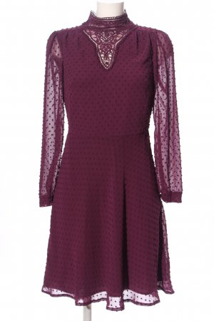 M&S Collection Langarmkleid lila Punktemuster Elegant
