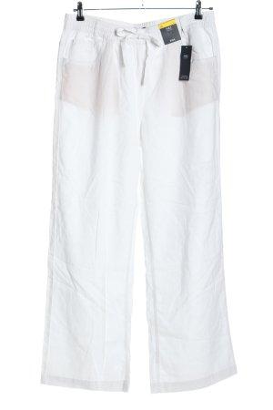 M&S Collection Pantalone di lino bianco stile casual