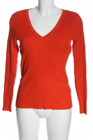 M&S Collection V-Ausschnitt-Pullover rot Casual-Look