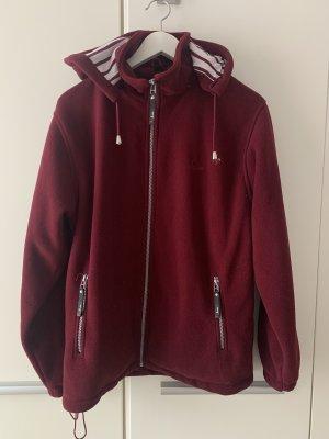 M&S Collection Veste polaire rouge carmin-bordeau
