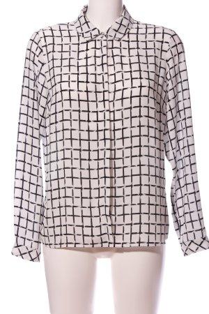 M&S Hemd-Bluse weiß-schwarz Allover-Druck Business-Look
