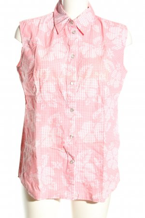M&S Kurzarm-Bluse pink-wollweiß Allover-Druck Casual-Look