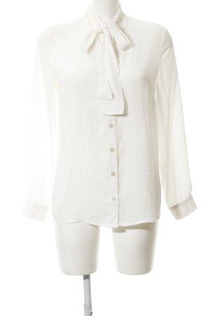 M&S Langarm-Bluse wollweiß Elegant