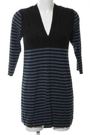 M&S Langarmkleid schwarz-blau Streifenmuster Casual-Look