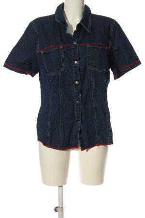 m&s mode Jeansowa koszula niebieski-czerwony W stylu casual