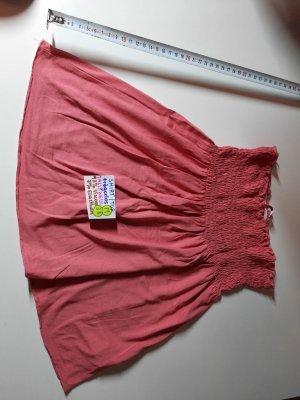 M (S) shirt top trägerlos tally weijl rot rosa