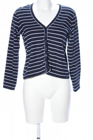 M&S Shirtjack blauw-wit gestreept patroon casual uitstraling