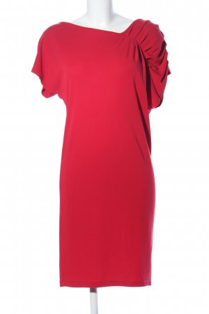 M&S Robe stretch rouge élégant