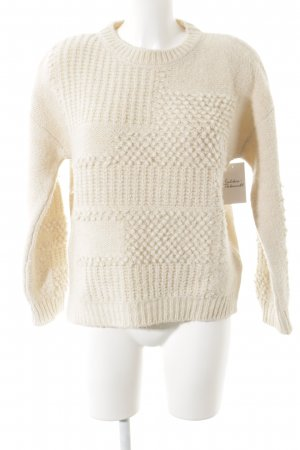 M&S Strickpullover hellbeige abstraktes Muster Casual-Look