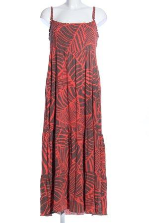 M&S Trägerkleid rot-bronzefarben Allover-Druck Casual-Look