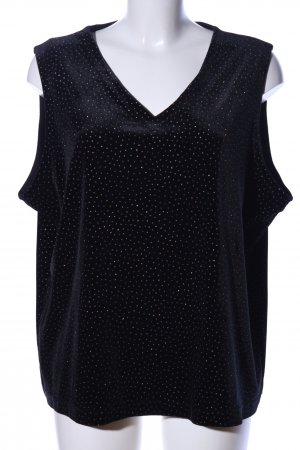 M&S V-Ausschnitt-Shirt schwarz Elegant