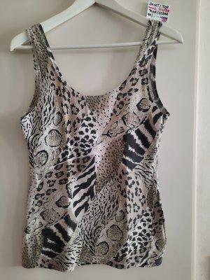 M shirt top Muster Leopard Tiger Zebra mit loch