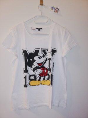 M T Shirt Montego weiß mit Mickey mouse weiß schwarz rot