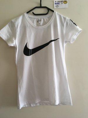 M T Shirt Nike weiß schwarz